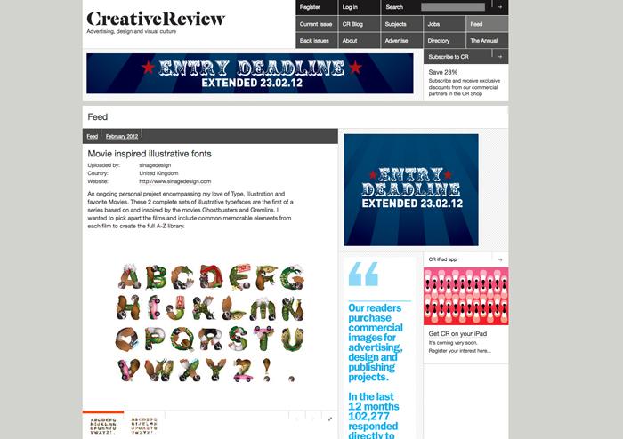 Illustrative Movie inspired Typefaces