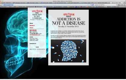Spectator Event - Addiction is NOT a Disease